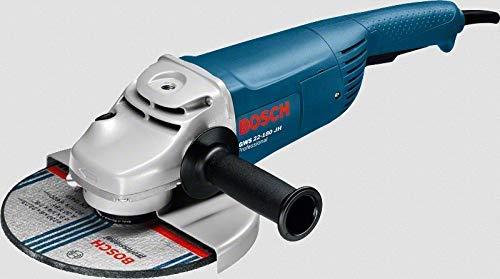 BOSCH 0601881M03 - Amoladora GWS 22-180 JH Professional. 2.200 W. 180 mm. Empuñadura recta. Arranque suave. Interruptor tri-control con Caja de cartón.