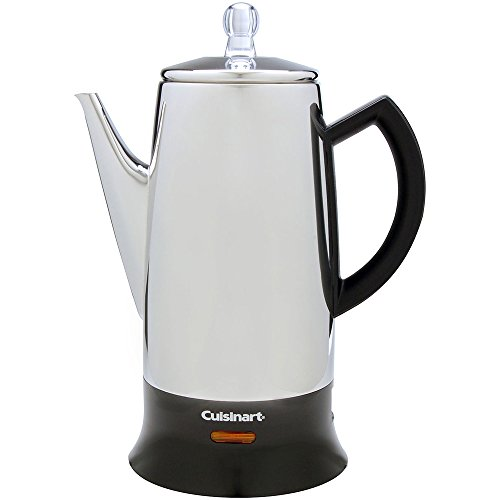 Cuisinart PRC-12 Classic 12-Cup Stainless-Steel Percolator, Black/Stainless (Renewed)