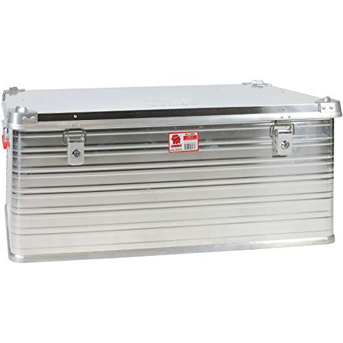 JUMBO Alluminium Transport-Box Alu 140 Liter ALU140 L 902 x B 495 x H 379 mm Kiste Truhe Lager-Box Alubox