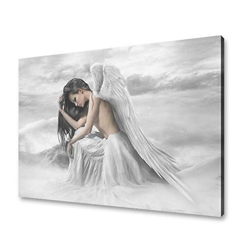 Online Street Engel auf Leinwand zum Aufhängen, Dekoration für Zuhause, Glitzer, Engel-Druck