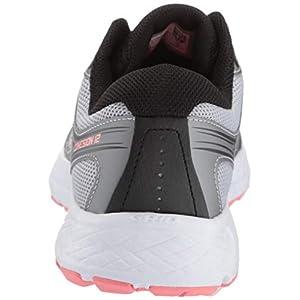 Saucony Women's VERSAFOAM Cohesion 12 Road Running Shoe, Silver/Pink, 8 M US