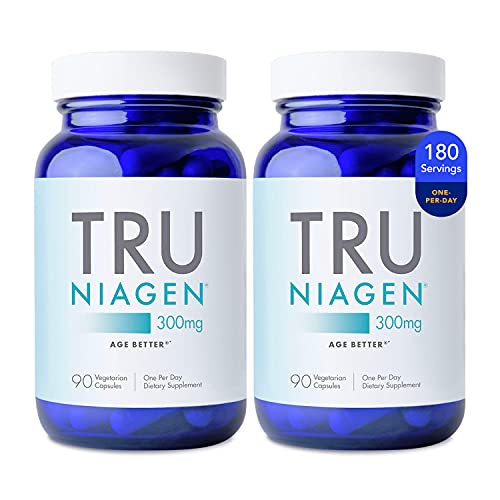 NAD+ Supplement More Efficient Than NMN - Nicotinamide Riboside for Energy, Metabolism, Vitality, Muscle Health, Healthy Aging, Cellular Repair (Patented Formula) 90ct - 300mg (6 Months / 2 Bottles)