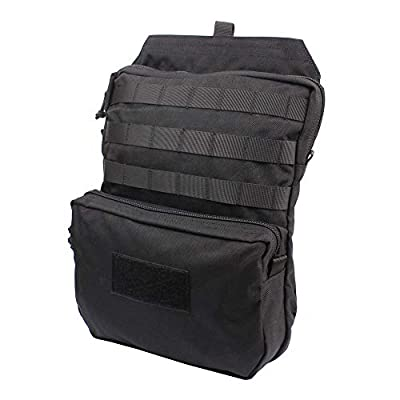 LytHarvest Tactical Molle Hydration Carrier (Bladder is not Included), Tactical Mobility 3-Liter Hydration Pack for Hiking, Biking, Climbing (Black)