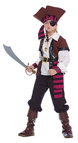 Guirca - Jack Sparrow Disfraz Pirata de los siete mares, multicolor, nio 10/12 aos, 85373