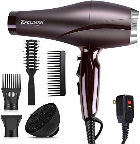2000 Watt Hair Dryers Xpoliman Professional Salon Hair Dryer with AC Motor Negative Ionic Blow product image
