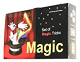 First step to become a professional magician Video tutorials available on you-tube Easy to do it yourself The kit includes: Cups and Balls - Ball pyramid - T puzzle - Ace card - 4 queens - Picture puzzle - Blooming flowers - Coin vanish - Magic colou...