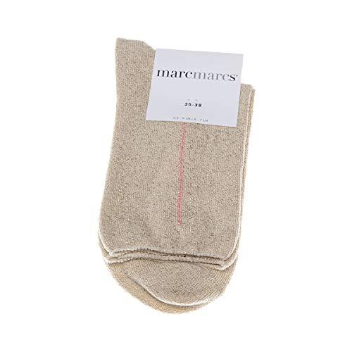 Marcmarcs Socke mittelhoch - 1 paar - Flachnaht - Funkeln - Fine - Coton - Beige - Kim - 39/42