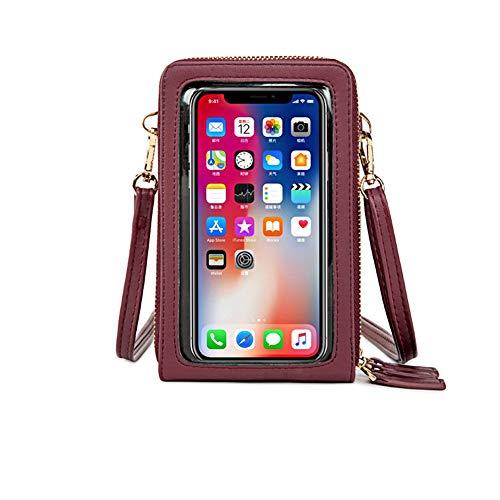 Bolso bandolera para teléfono móvil, de piel sintética, para mujer, estilo mensajero