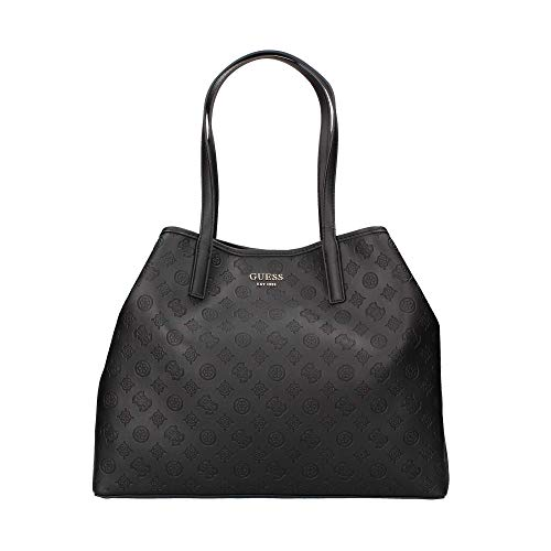 Guess Vikky Large Tote, Bags Flap Donna, Black, One Size
