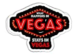 chillylkst What Happens in Vegas Stays in Vegas Vacation - 4x3 Vinyl Stickers, Laptop Decal, Water Bottle Sticker (Set of 3)