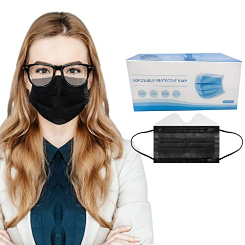 Yaguan 50PC Anti-fog Disposable Face 3-Ply Disposable Face Made in USA
