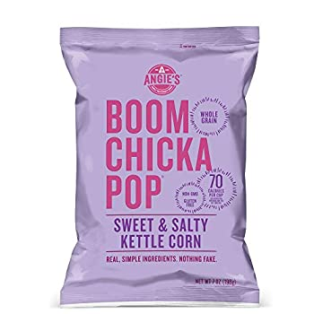 Angie's BOOMCHICKAPOP Sweet & Salty Kettle Corn Popcorn 7 Ounce Bag  Pack of 4 Bags