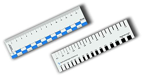 Sachverständigen-Zubehör 2er Set Rissbreitenlineal 15 cm | Dokumentationshilfe | praktisches Risslineal | Riss Karte Fotodokumentation | exaktes Rißlineal | Kfz Wertermittler | Gutachter