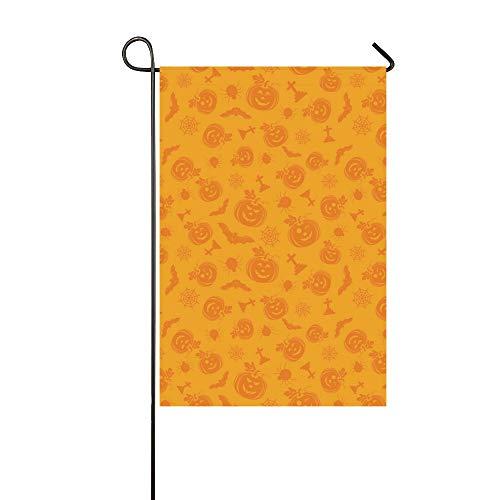 Bandera decorativa casera al aire libre del jardín de la calabaza de Halloween del doble cara, bandera del patio de la casa, decoraciones del patio del jardín, bandera de bienvenida al aire libre de t