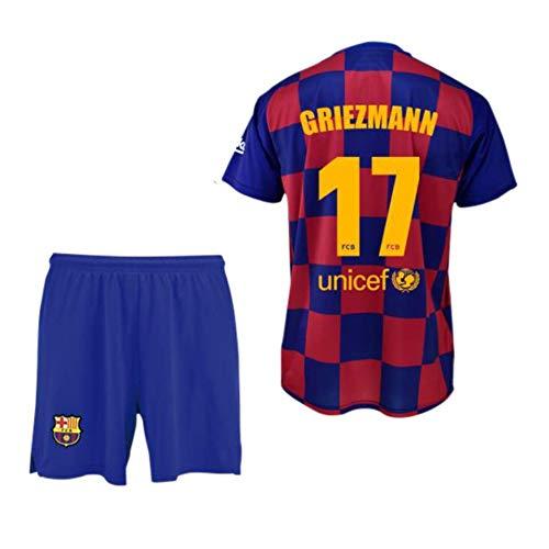 Conjunto Camiseta y pantalón 1ª equipación FC. Barcelona 2019-20 - Replica Oficial con Licencia - Dorsal 17 Griezmann - Niño Talla 12
