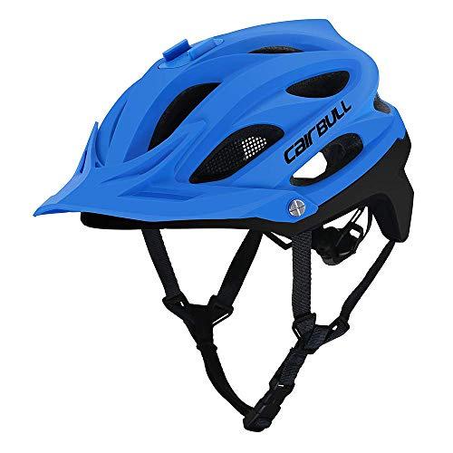 RH-HPC Fahrradhelm Fahrradhelm, CE-Zertifiziert Fahrrad/Fahrradhelm mit Kamera Installation Schnittstelle/abnehmbare Sonnenblende/Insect Net Futter for Erwachsene/Jugend/Berg, Blau