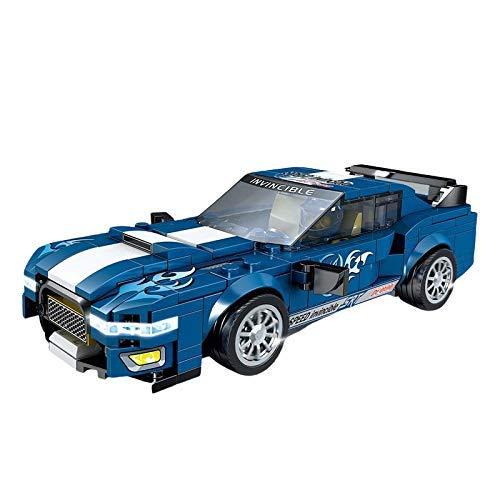 Vehículo de ingeniería Ford Mustang Formula Supercar 10265 Bloques de construcción de Coches de Carreras Ladrillos de vehículos de Carreras Modelo Moc Juguetes para niños