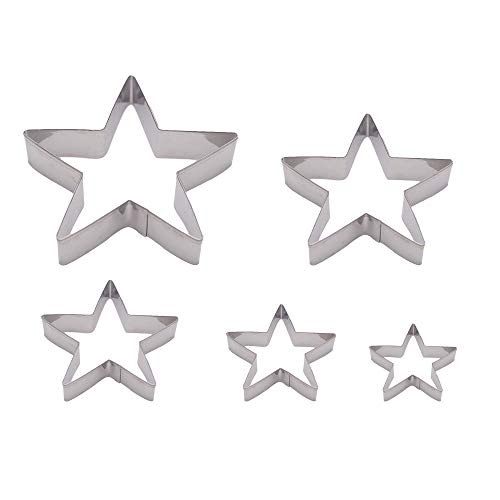 Dadam Star Cookie Cutters Set of 5 - Stainless Steel