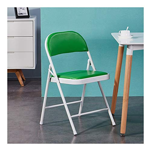GJX Tumbonas Silla Plegable Ministerio del Interior Comedor sillas de Respaldo Silla de la computadora portátil de heces (Color : Light Green)