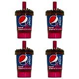 Novelty Soda Bottle Lip Balms (4 Pack) Pepsi Wild Cherry