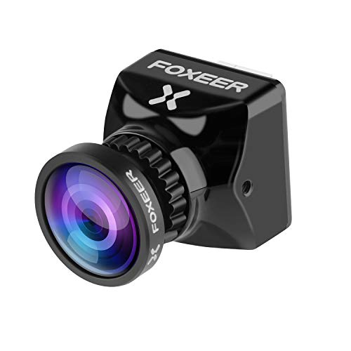 FPV Camera, Foxeer Predator V5 Micro Full 1000TVL 155 Degree Super WDR Mini Cam with Sony 1/3 CMOS Sensor 1.7MM Lens 4:3/16:9 Screen NTSC/PAL Switchable Built-in OSD for RC FPV Racing Drone