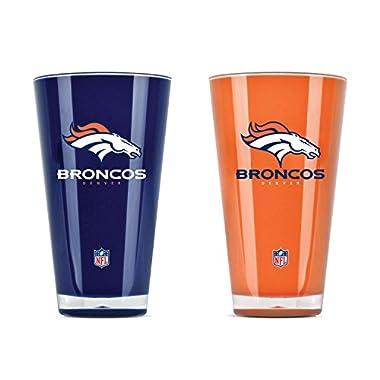 Duck House NFL Denver Broncos 20oz Insulated Acrylic Tumbler Set of 2