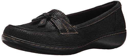 Clarks Women's Ashland Bubble Loafer, Black Interest, 8 M US