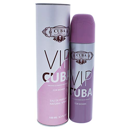 Cuba Eau de Parfum Cuba Vip Women Des Champs for Ladies, 3.3 Fluid Ounce