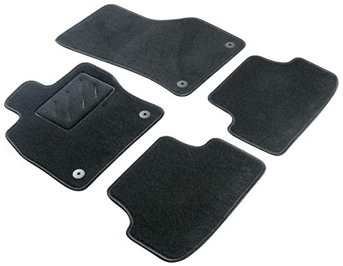 Walser Nadelfilz Velours Fußmatten kompatibel mit Opel Astra H, Astra H Caravan, Astra H GTC Baujahr 2004 bis 2010