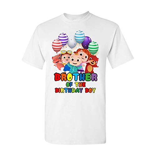 Cocomelon Personalized Brother Sister Mommy Daddy of The Birthday Boy Girl Tshirts, Family Cocomelon Shirts Custom, Cocomelon Birthday Theme Shirts, Customized Cocomelon Bday Shirts. White