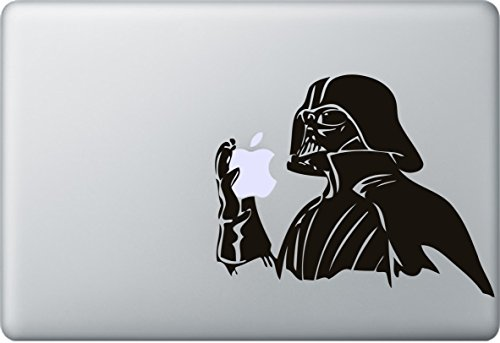 Darth Vader Aufkleber MacBook Air Pro Sticker Decal Apple Star Wars (Schwarz)