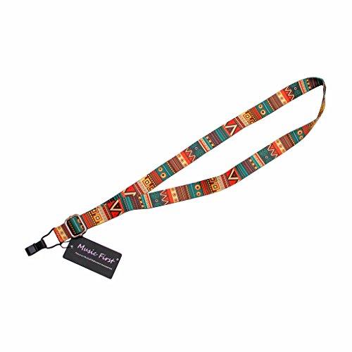 MUSIC FIRST Aztec Style Adjustable Soft Ukulele Strap Ukulele Neck Strap