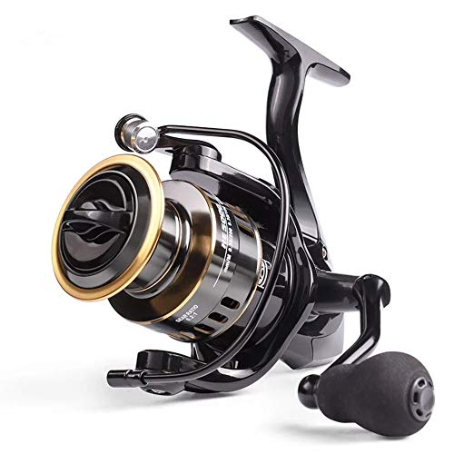 LINNHUE HE7000 Spinning Reel 10KG Max Drag Pesca Carrete 5.2: 1 alta velocidad Metal carrete agua dulce Carpa Spinningwheel