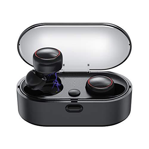 Ayuly Bluetooth Kopfhörer Wireless Kabellose Kopfhörer einfach koppelnde Headset Wireless In-Ear Earbuds IPX6 wasserdichte Noisy canceling ohrhörer kabellos mit Portable Mini Ladekästchen für Sport