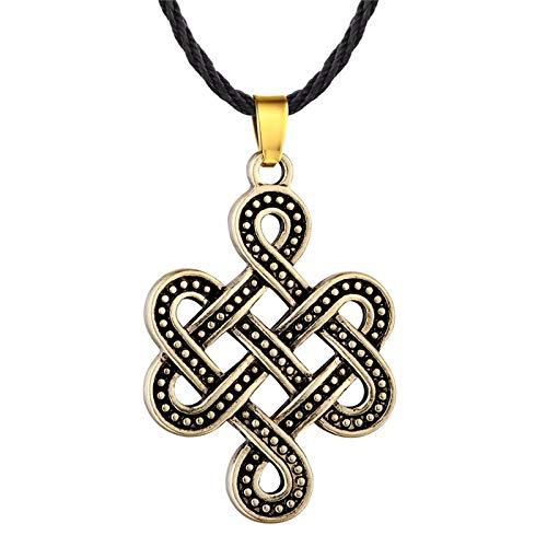 N/G Collar para Hombre Amuleto Vikingo Colgante Señoras Hombres Cadena de suéter Lobo Dragón Símbolo árabe Joyería eslava Ojo Malvado Retro Punk Colgante Collar Regalo para niño