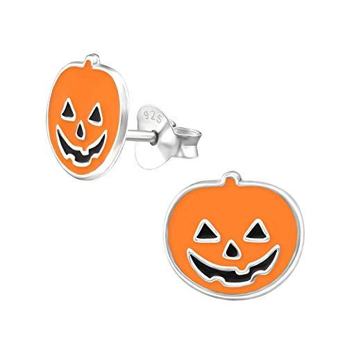 Halloween Earrings - Pumpkin - Sterling Silver Gift