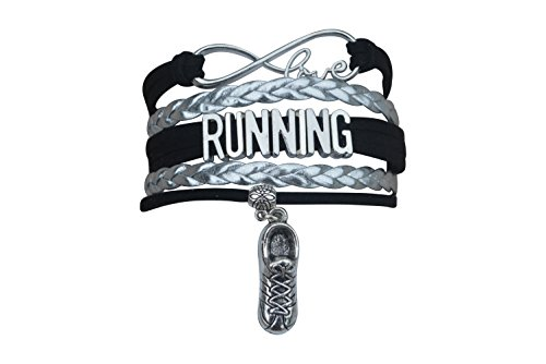 Infinity Collection Running Gifts- Runner Bracelet, Running Jewelry, Adjustable Running Charm Bracelet- Perfect Cross Country, Track, Marathon Gifts