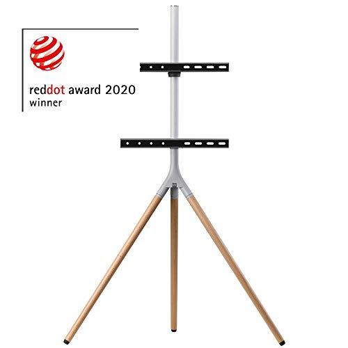 One For All Universelles Tripod TV-Stativ - Bildschirmgrößen 32-65'' - LCD/LED/Plasma/OLED/QLED-TV-Geräte/schwenkbar um 360° - Höhenverstellbar - VESA 400x400 - elegantes Design - WM7472
