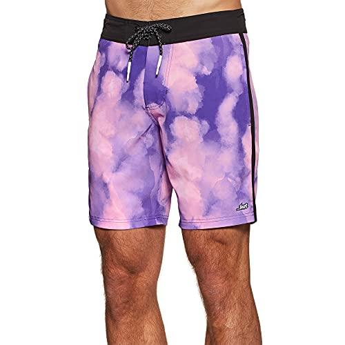 Lost Thriller Mens Boardshorts 38 inch Purple Inertia