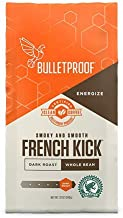 Bulletproof French Kick Whole Bean Coffee, Premium Dark Roast Gourmet Organic Beans, Rainforest Alliance Certified, Perfect for Keto Diet, Upgraded Clean Coffee (12 Ounces)