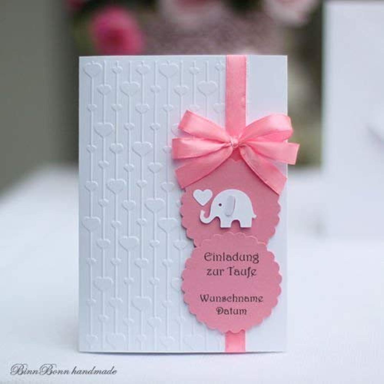 10 personalisierte Einladungskarten Einladung Taufeinladung Taufe Babyshower Babyparty Baby Name Handarbeit binnbonn B077KFBB8X  | Quality First