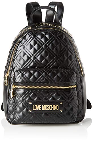 Love Moschino Damen Jc4204pp0a Rucksack, Schwarz (Black Quilted), 13x33x27 Centimeters