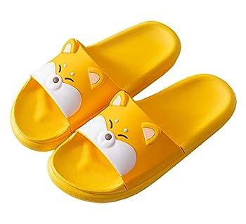 RockTrend Women Cartoon Shiba Inu Non-Slip Shower Sandals Bathroom Soft Husky Slipper Shoes