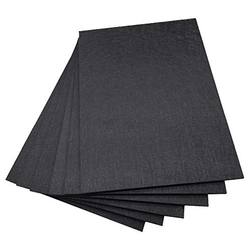BXI Sound Absorber - 16 X 12 X 3/8 Inches 6 Pack High Density Acoustic Absorption Panel, Sound...