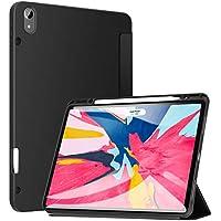 ZtotopCase Funda para iPad Pro 12.9 Pulgadas 2018, Ultra Delgada Smart Cover Carcasa con Soporte Incorporado de Pencil- Ligero, Función de Auto-Sueño/Estela, Soporta Cargar Pencil - Negro