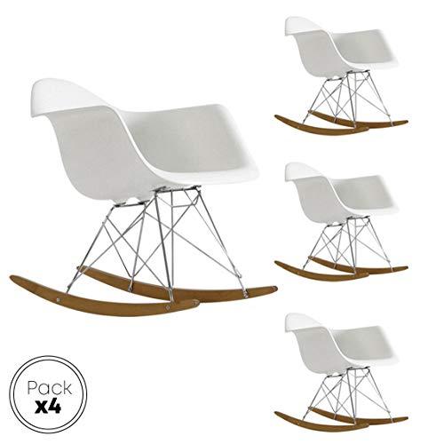EUROSILLA ST017 schommelstoel, 70 x 62 x 68 cm, wit