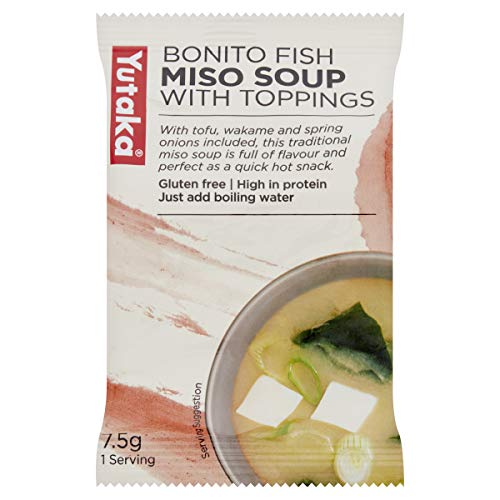 Yutaka Instant Miso Soup Bonito 7.5 g (Pack of 10)