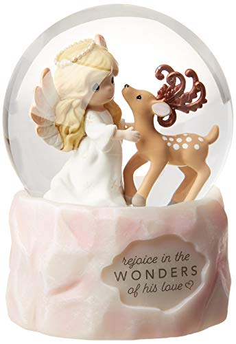 Precious Moments Rejoice in The Wonders of His Love 9th Annual Angel Resin and Glass Snow Globe 191104 Waterball, One Size, Multi