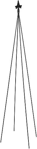 Achla Designs FT-21 Fleur-de-lis, 78-Inch Wrought Iron Garden Stake Trellis, Black
