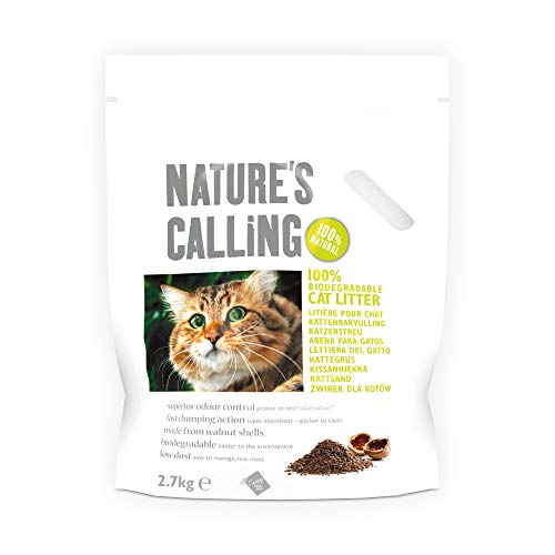 NATURE'S CALLING Clumping Cat Litter, Biodegradable...